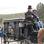 Horse drawn hearse in FDGD parade