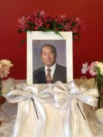 Rev. Moon photo altar