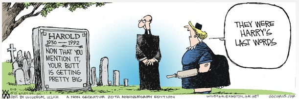 Non Sequitur 20th Anniversary Death Cartoon A Good Goodbye