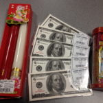 Joss paper, incense, candles