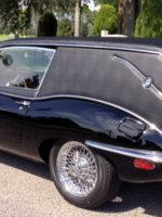 Jaguar hearse in cemetery