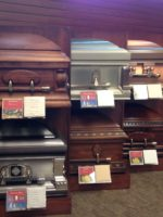 Caskets with price tags
