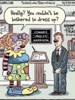 Bizarro Clown Funeral Cartoon