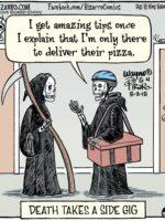 Bizarro Grim Reaper Pizza