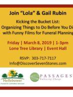 2019 Gail Rubin Lone Tree Presentation