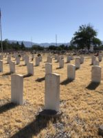 Military Markers in Historic Fairview Cemetery