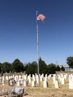 Flag in Historic Fairview Cemetery